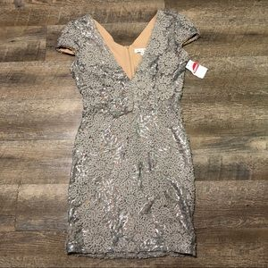 Dress the Population sequin Gray/silver dress XL